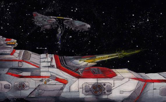 Classic Space Battle: Test Fire