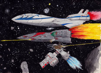 Classic Space Battle: Escort Mission by PrinzEugn