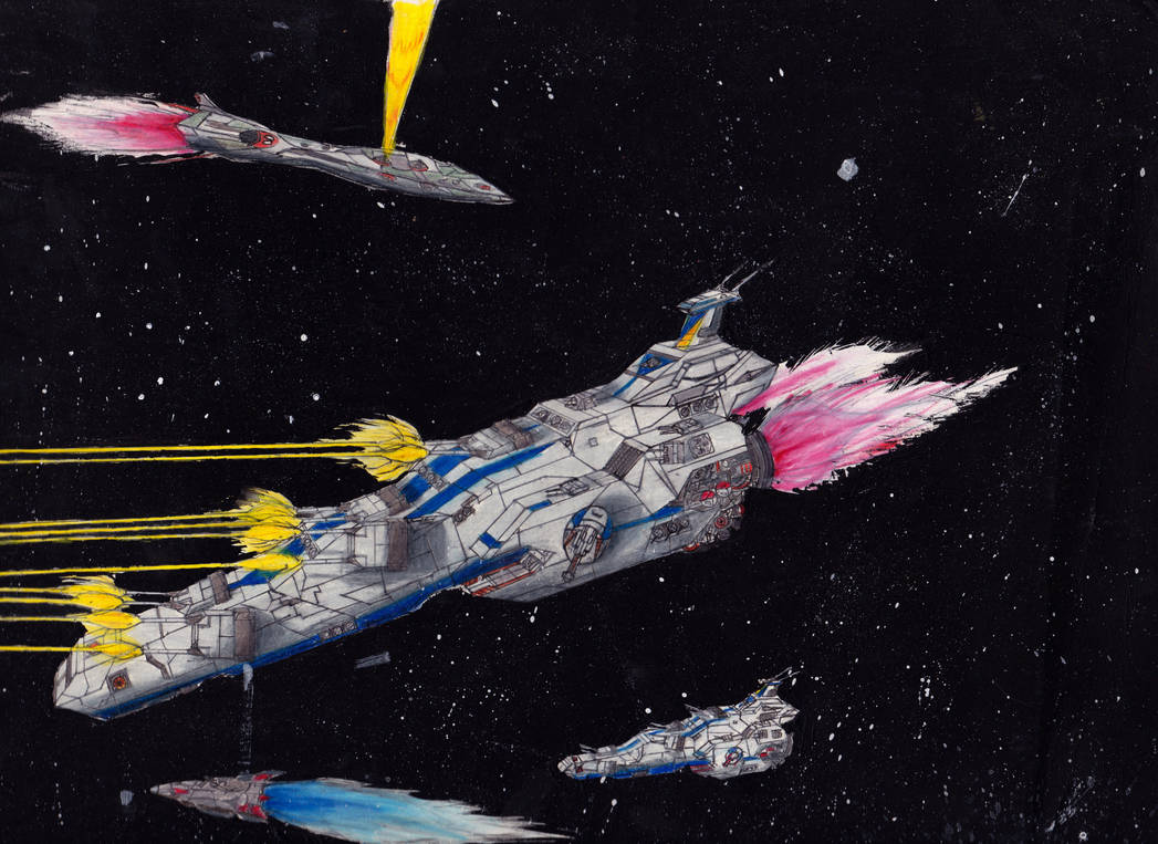 Classic Space Battle: Full Frontal Barrage by PrinzEugn