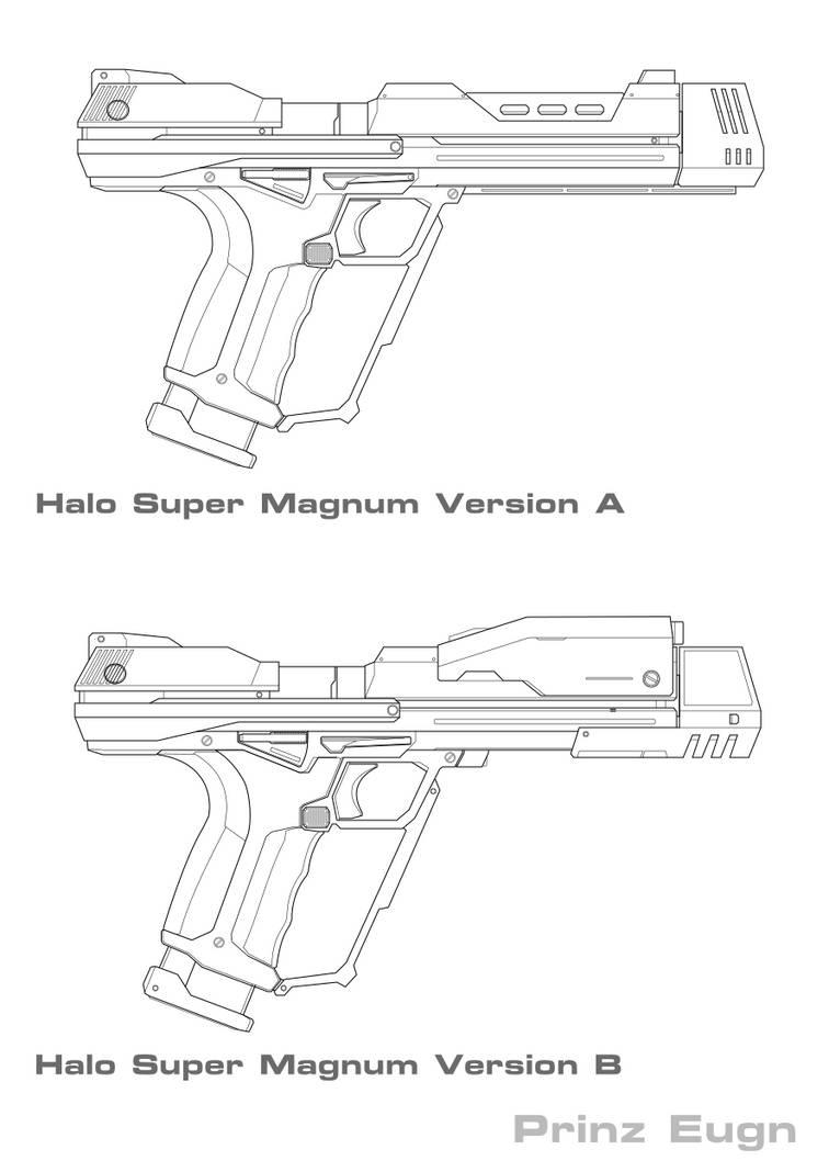 Halo Super Magnum WIP by PrinzEugn