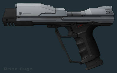 Halo Super Magnum WIP 2: The Coloring by PrinzEugn