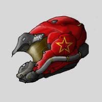 Neo-Soviet Ace Helmet by PrinzEugn