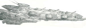Space Battleship by PrinzEugn