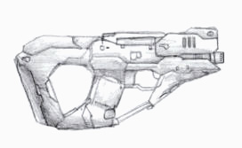 Future Pistol by PrinzEugn