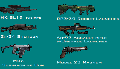 Pixel-Art Gun Montage by PrinzEugn