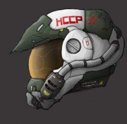 Neo-Soviet Flight Helmet by PrinzEugn