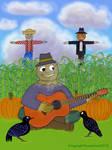 Scarecrow Playing Guitar