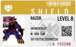 Shield agent razor