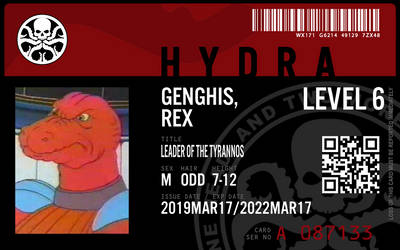 Hydra agent genghis rex by connorm1