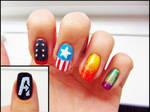 Avengers Inspired Nails