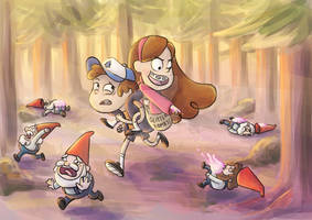 Pines Twins Gnome Fight