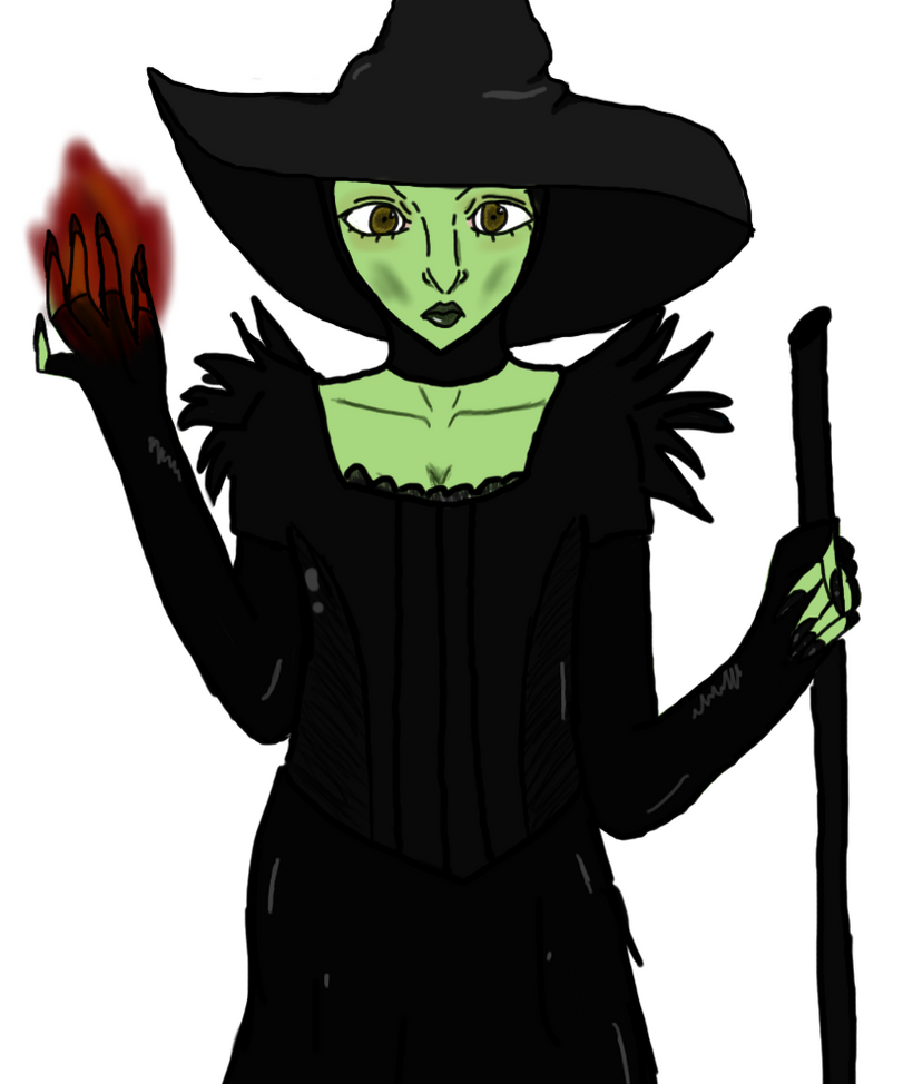 how to draw the wicked witch of the west