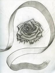 Rose and ribbon by Bluerosethehedgehog