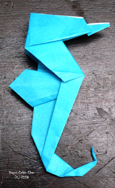 origami seahorse by dragoncelticchan on deviantart