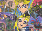 Yami and Yugi andTheirMonsters by Dragon-Celtic-Chan