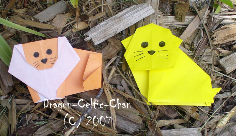 Origami Lion And Lioness By Dragon Celtic Chan