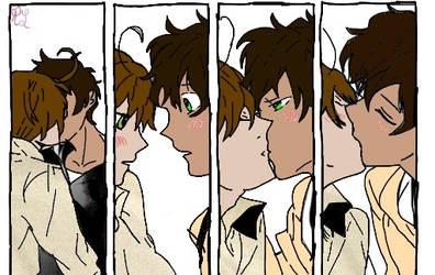 Spamano Kisses by RebaTheKawaiiPotato