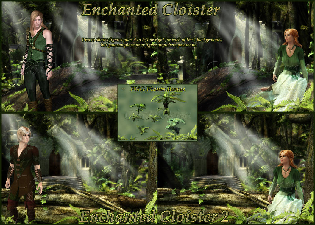 Enchanted Cloister Backgrounds_2 background sets