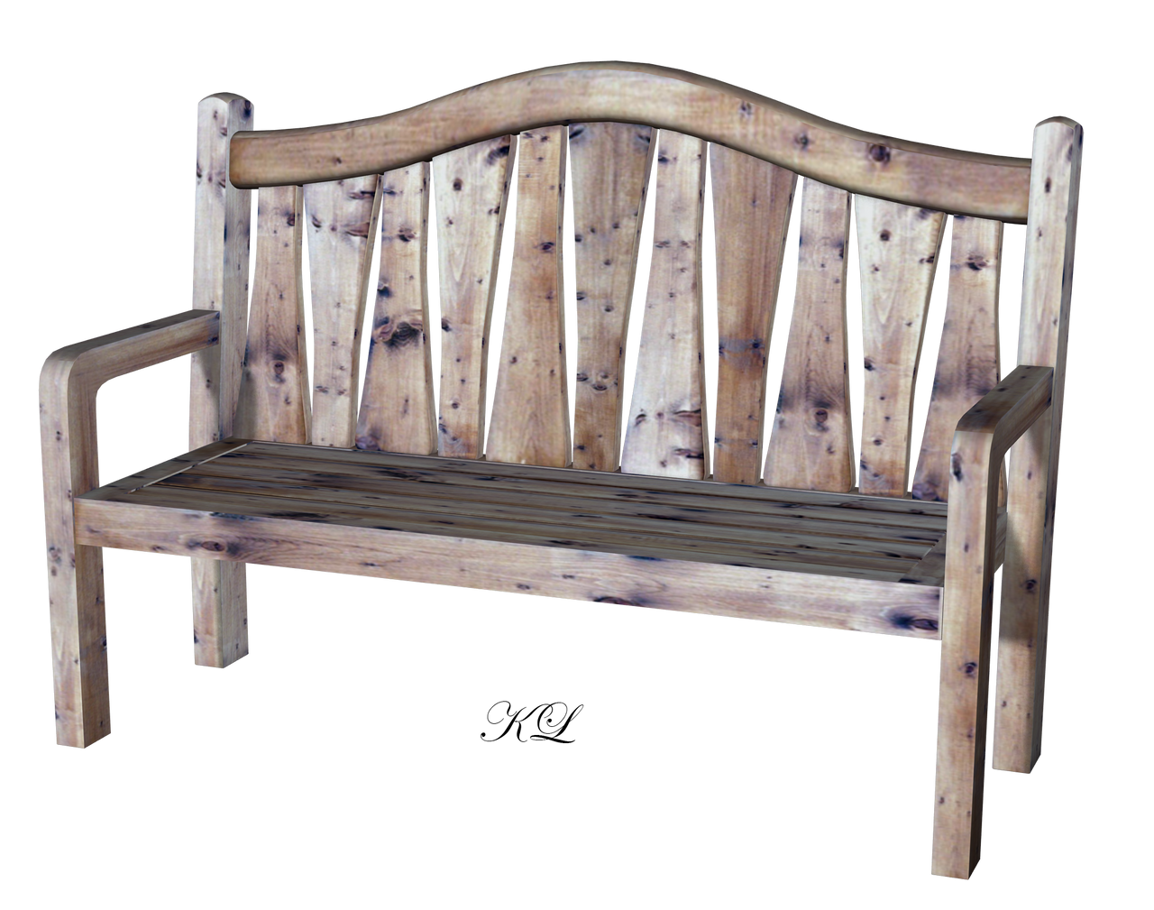 Old Wooden Bench PNG KL Cactuskim By