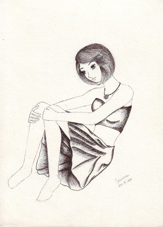 Beach Girl by LencreDeRouge08