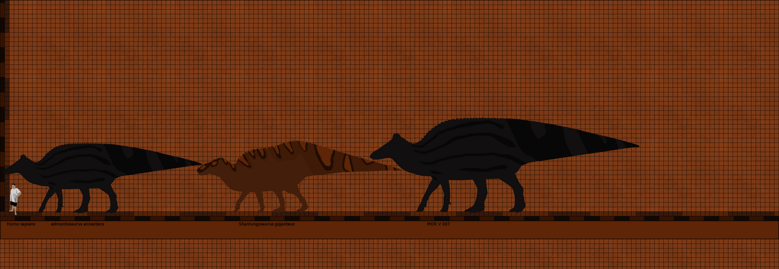Really Big Edmontosaurus march 2 by Paleop on DeviantArt