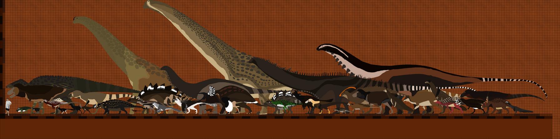 Many Dinos of North America by Paleop