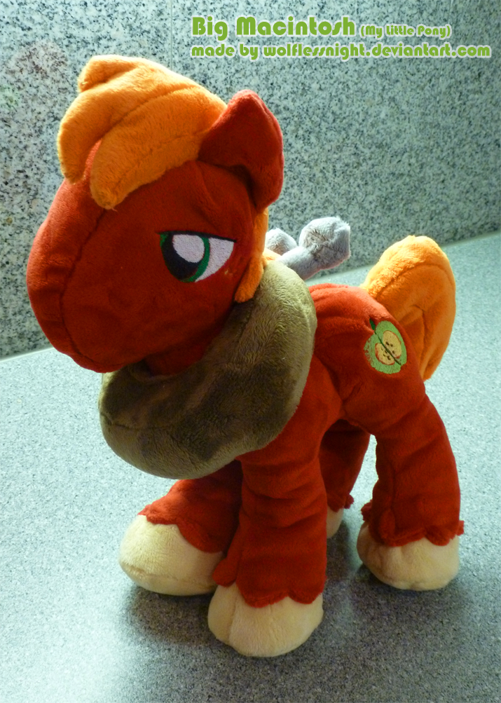 Big Macintosh Plush III by Wolflessnight