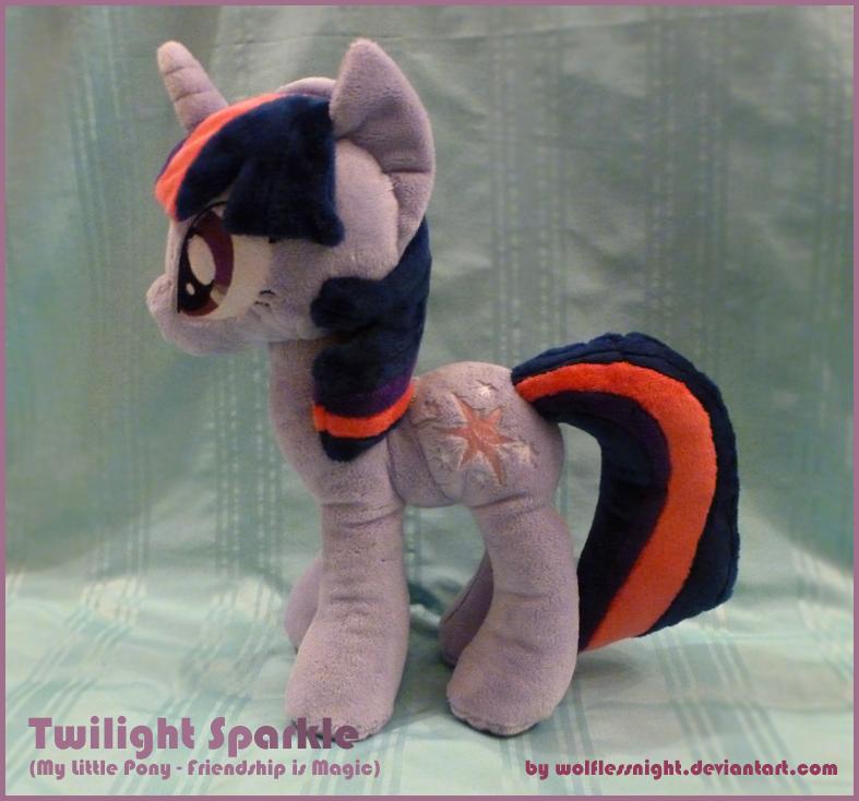 Twilight Sparkle Plush v.3 by Wolflessnight