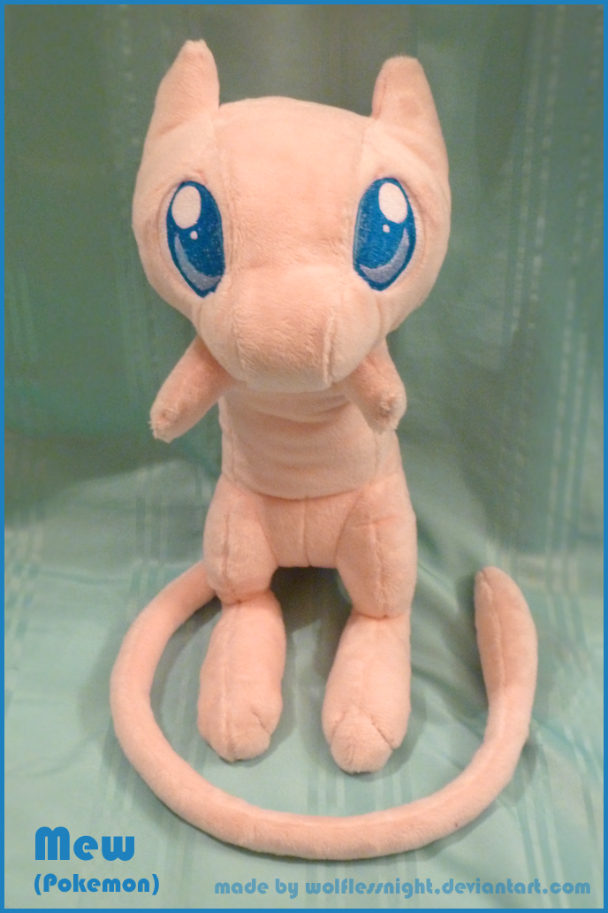 Mew Plush by Wolflessnight