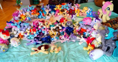 101 Pony Plushies by Wolflessnight