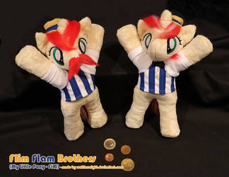 Flim Flam Brothers - Beanie Plushes (front view) by Wolflessnight