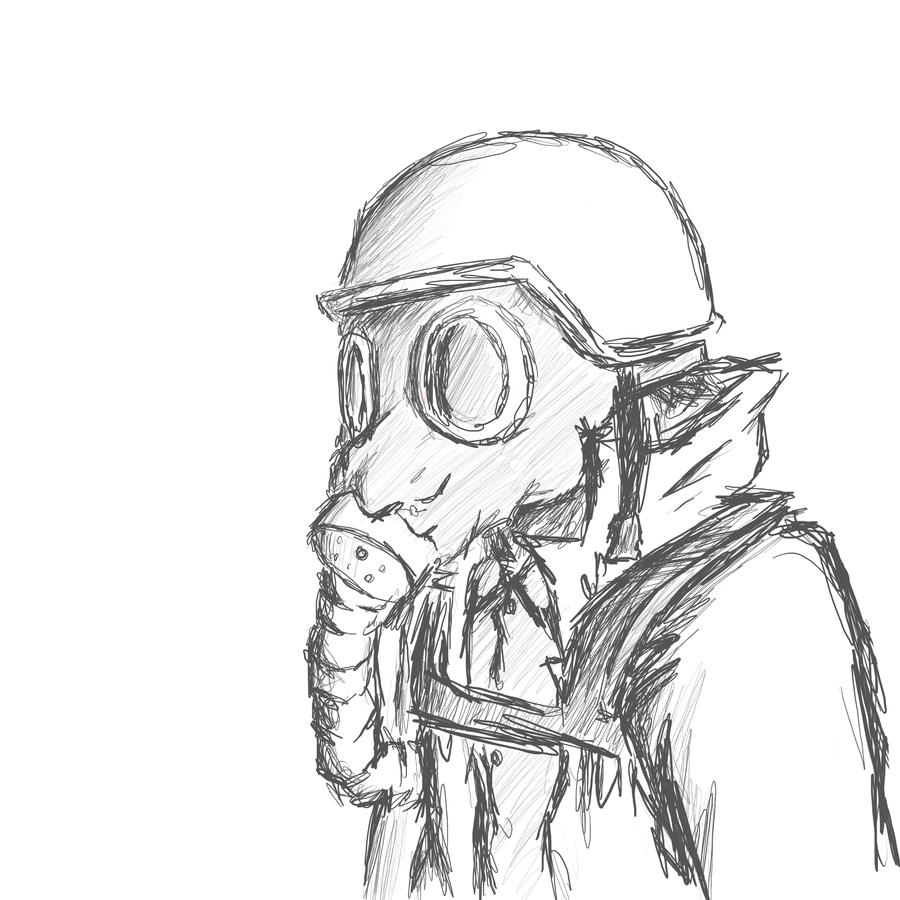 Gas Masks Drawing Ww1 Gas Mask Drawing