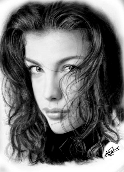 Liv tyler pencil drawing by ajayprabith