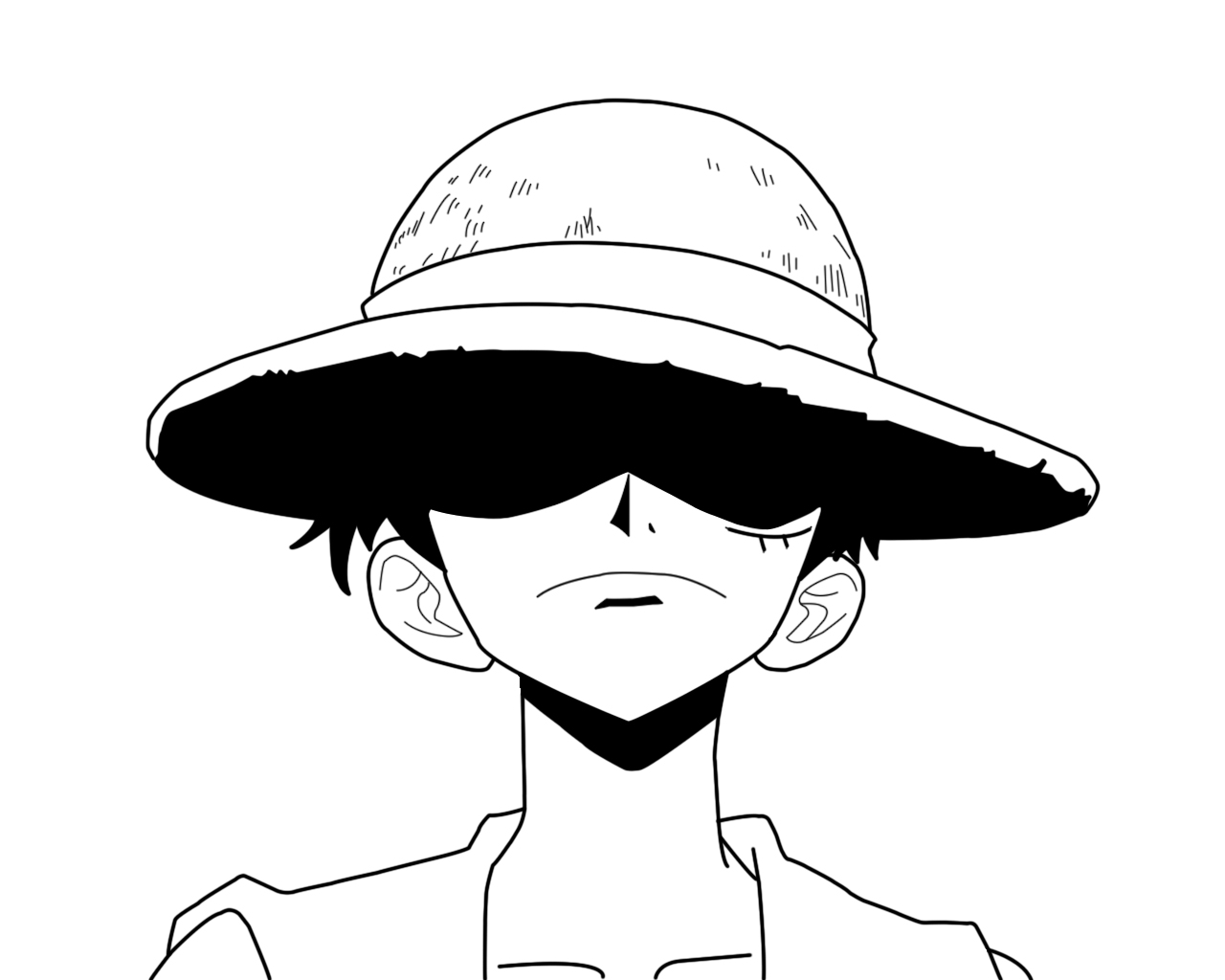 Luffy Lineart : Primeira lineart luffy by animemaniaco on deviantart