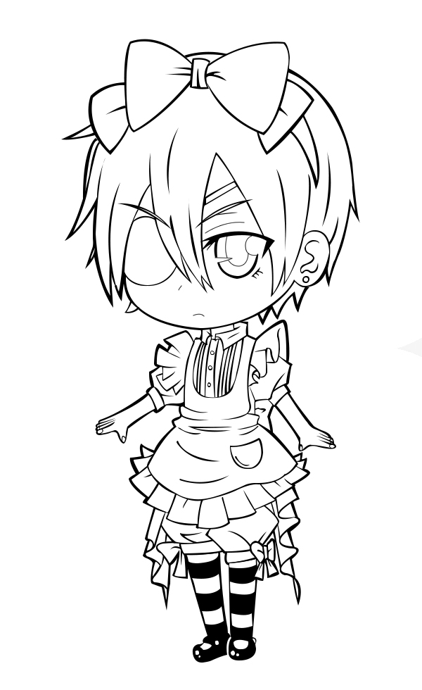 alois black butler coloring pages sketch coloring page