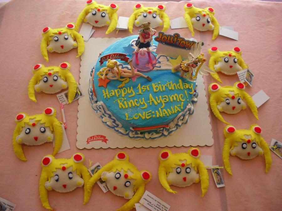 Ayames 1st Sailor Moon Cake By Prinsesaian On Deviantart