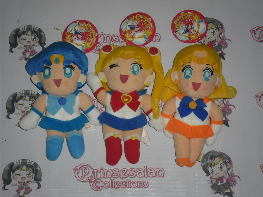SAILOR MOON S LARGE PLUSHIES by prinsesaian