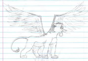 Winged Cub by wuffnpuff