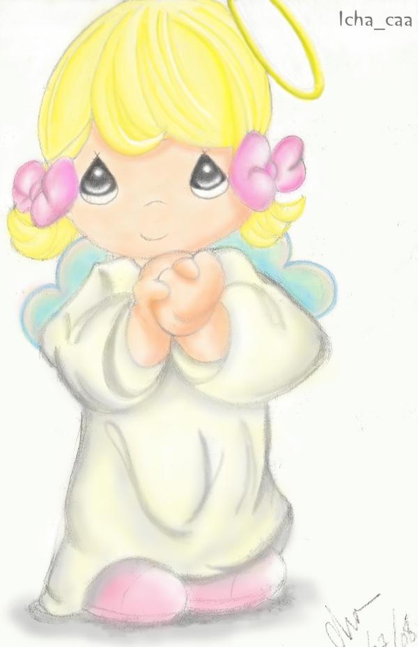 Precious moments angel by clarissae on deviantart