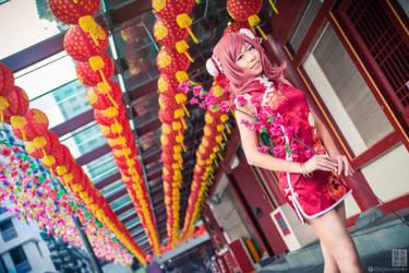 Love Live! Chinese dress: Maki - Flowers