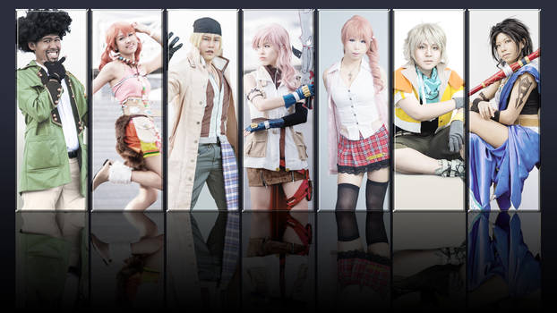 FF13 Characters Collage