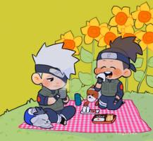 sunflower field picnic by Fingurken