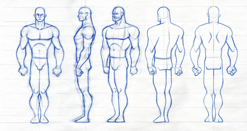 Male Figure rotation by robthesentinel on DeviantArt