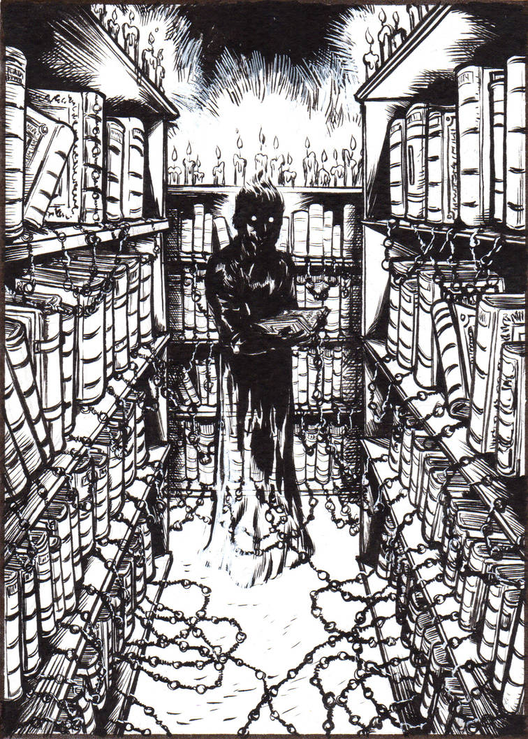 There's something in the chained library...