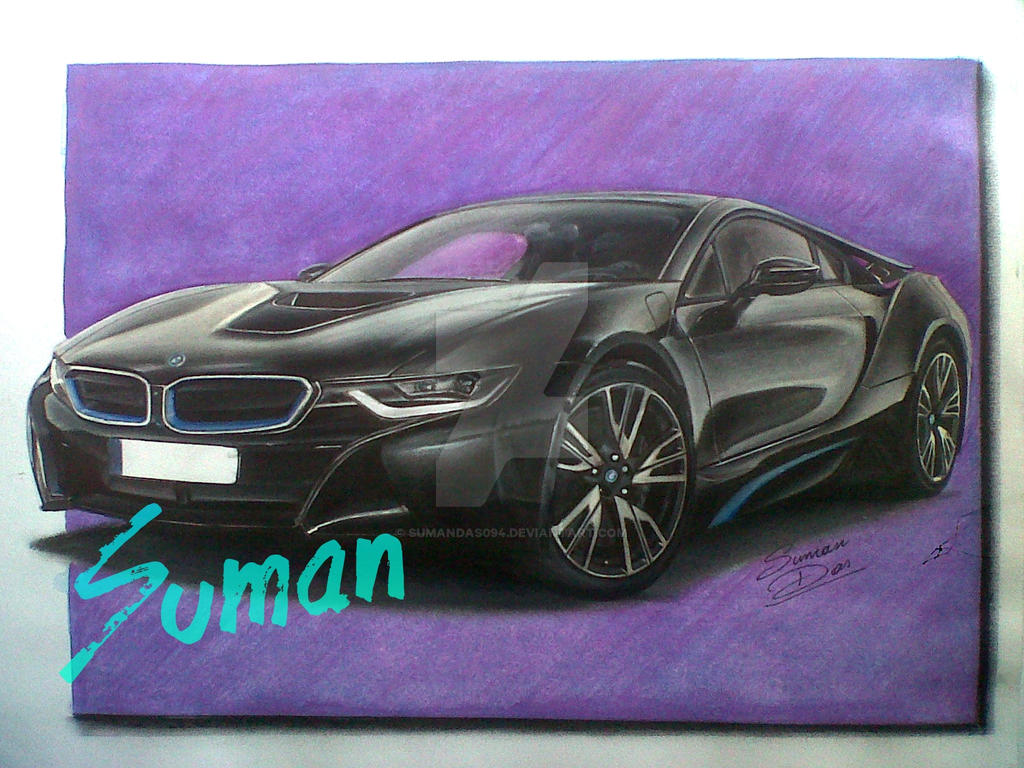 Bmw I8 Drawing By Sumandas094 On Deviantart
