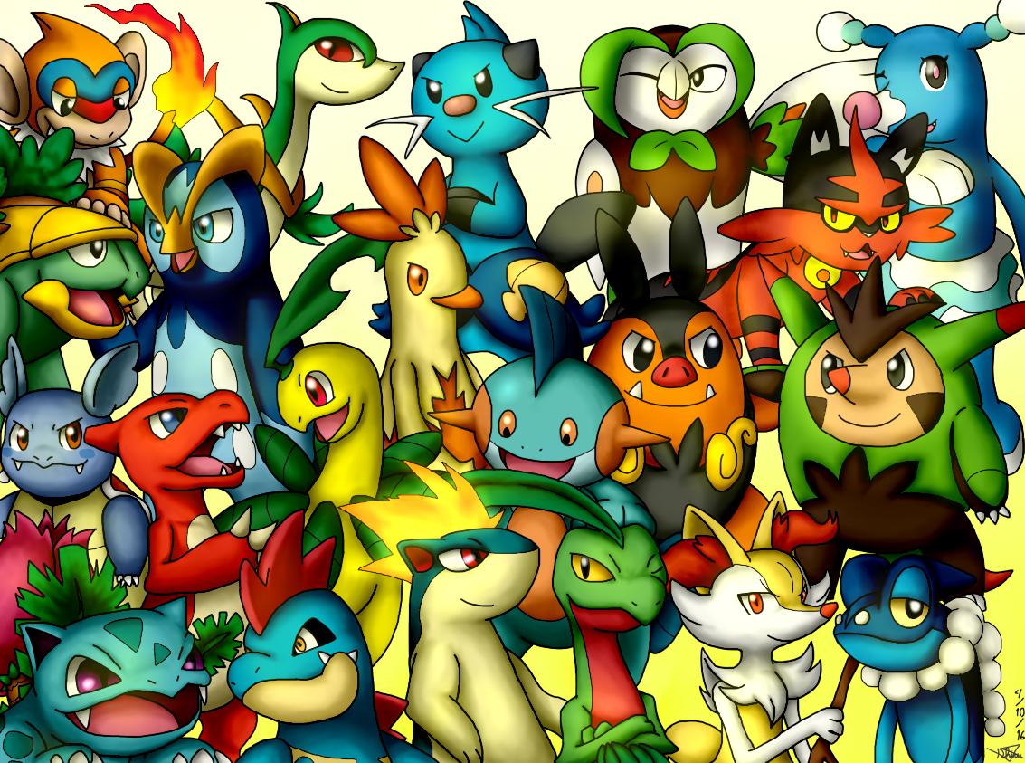 Pokemon All Starter Images