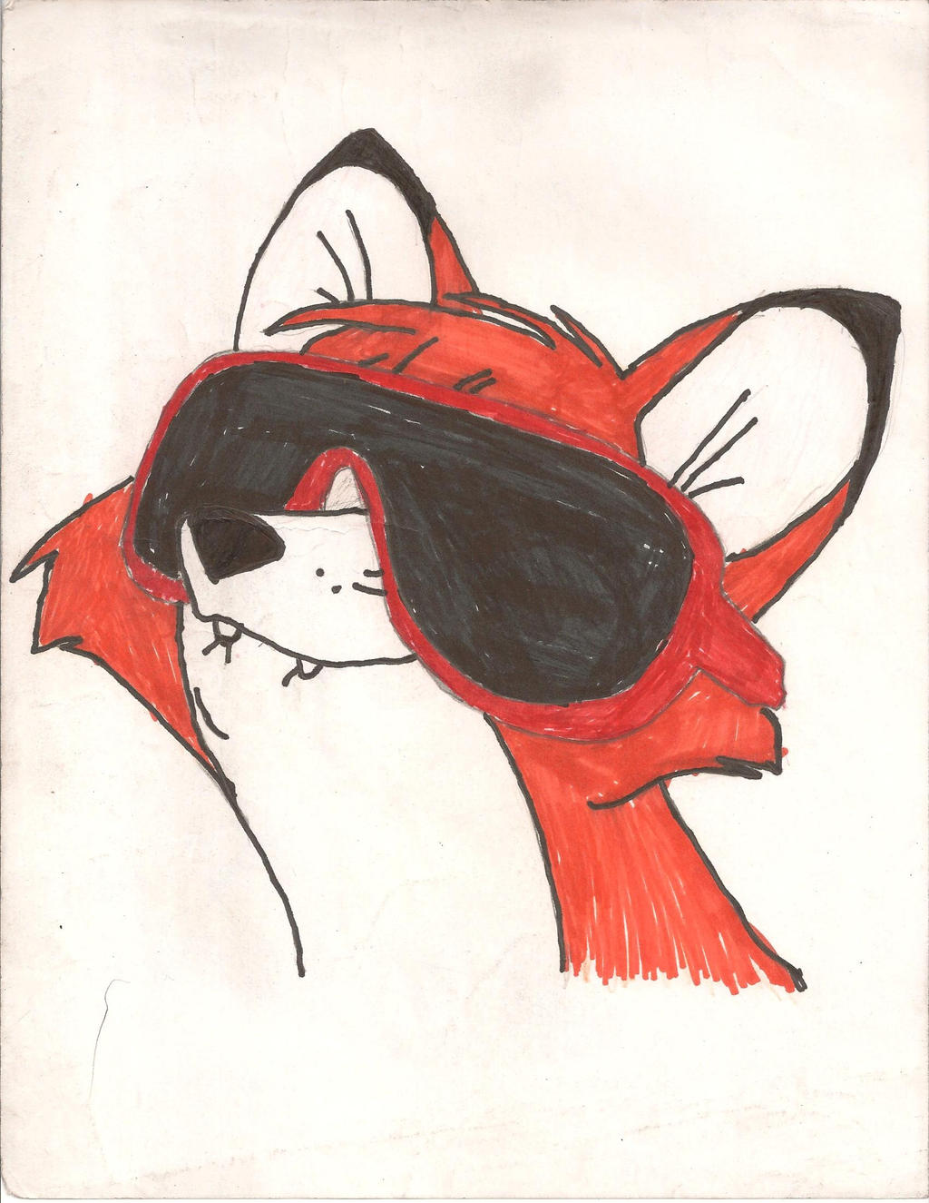 Cool fox by demon fox 96 on deviantart for Cool fox drawings