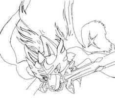 Zacian Line Sketch IbisPaintx