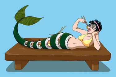 Sushi Mermaid by snowhite86