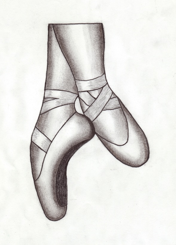 Black And White Drawings Of Ballet Shoes